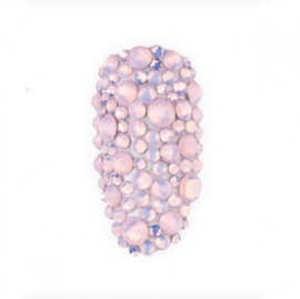 Mistero Milano Diamond Glass Mix Opal Pink 400 Stuks