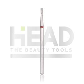 Head Diamond Frees Bit Cylinder Short Red 1.4mm (Manicure Pedicure)