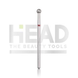 Head Diamond Frees Bit Ball Red 2.9mm (Manicure Pedicure)