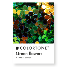 Colortone Green Flowers