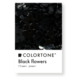Colortone Black Flowers