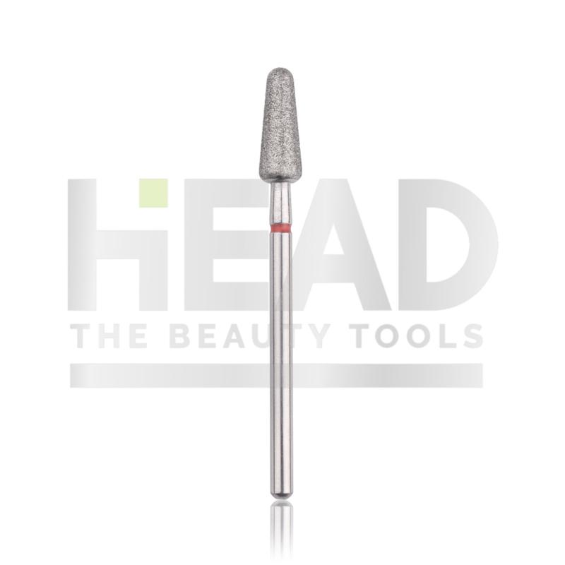 Head Diamond Frees Bit Drop Red 4.5mm (Manicure Pedicure)