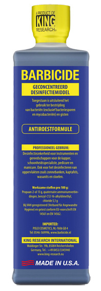 Barbicide Bundel (Barbicide 473 ml + 1L Dompelaar)