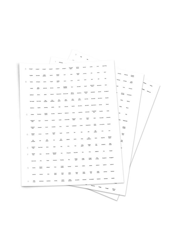 The GelBottle Sticker Sheet