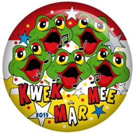 Oeteldonk Kwek mar mee button 45 mm