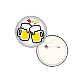 Bier emotie button 25 mm