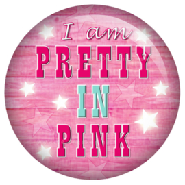 Toppers button Pretty in Pink 45 mm