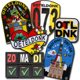 Oeteldonk emblemen voordeelpakket XXL