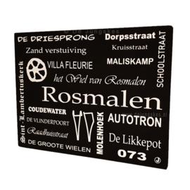 Tekstbord Rosmalen + afbeeldingen
