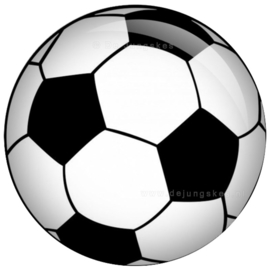 Voetbal button 45 mm