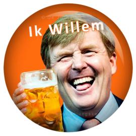 Koningsdag button Ik Willem 45 mm
