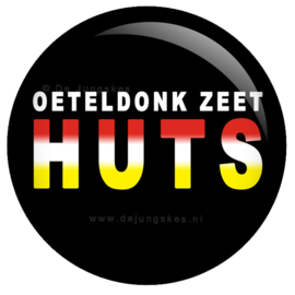 Oeteldonk zeet HUTS button 45 mm