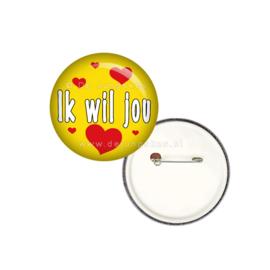 Ik wil jou button 25 mm