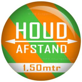 Houd afstand button 45 mm