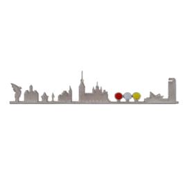 Skyline Den Bosch Zilver (25x6 cm)