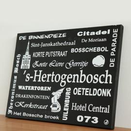 Tekstbord Den Bosch + afbeeldingen