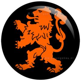 Hollandse leeuw button 45 mm