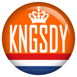 Koningsdag button KNGSDY 45 mm