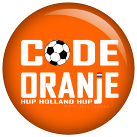 Code oranje button 45 mm