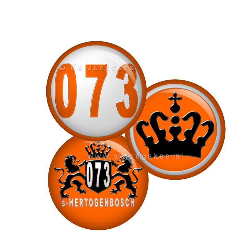 3 stuks Koningsdag buttons 25 mm