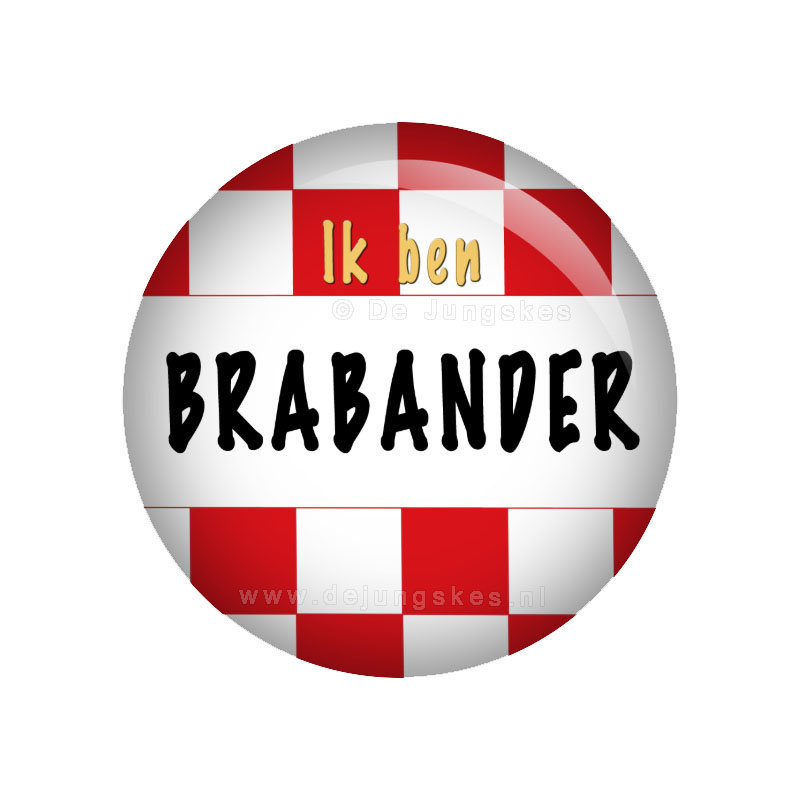Ik ben Brabander button 38 mm