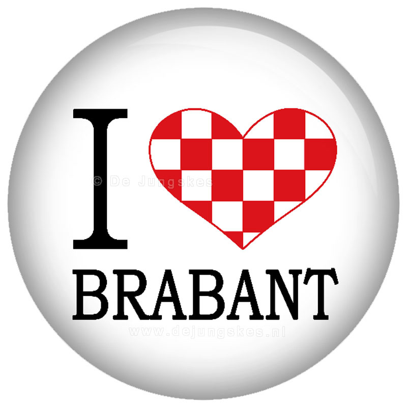 I love Brabant button 45 mm