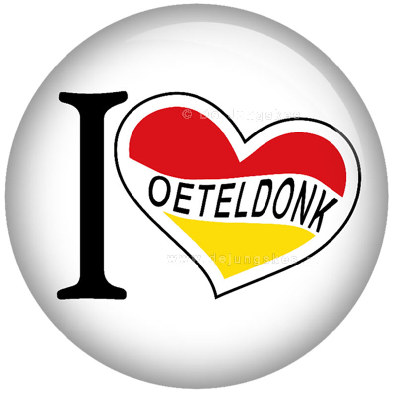 I love Oeteldonk button 45 mm
