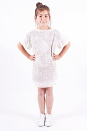 JETPAQ  I  CORNER SHIRT DRESS  pearl white