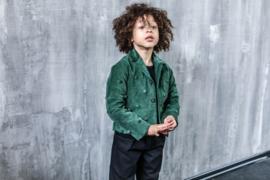 INFANTIUM VICTORIA  I  PADDED GREEN VELVET JACKET  unisex