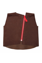 PLAY IS WORK  I  LEATHER VEST  brown