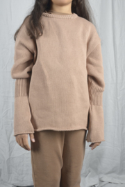 THE BIBIO PROJECT  I  OVERSIZED RIBBED SLEEVE SWEATER  tuscany