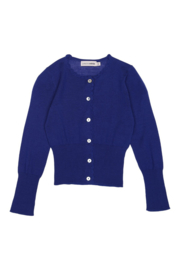 CHRISTINA ROHDE  I  NO. 401 WOOL CARDIGAN  bright blue