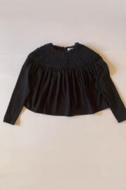 FOLK MADE  I  JERSEY KNIT BOA TOP  black