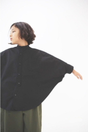 DRESS MONSTER  I  CAPE SHIRT  black
