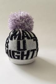 PRJONA PLYM  I  SMALL BUT MIGHTY  knit hat with lilac pom