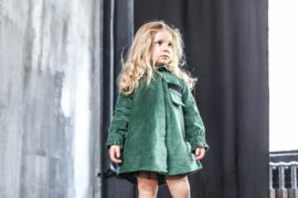 INFANTIUM VICTORIA  I  GREEN VELVET DRESS