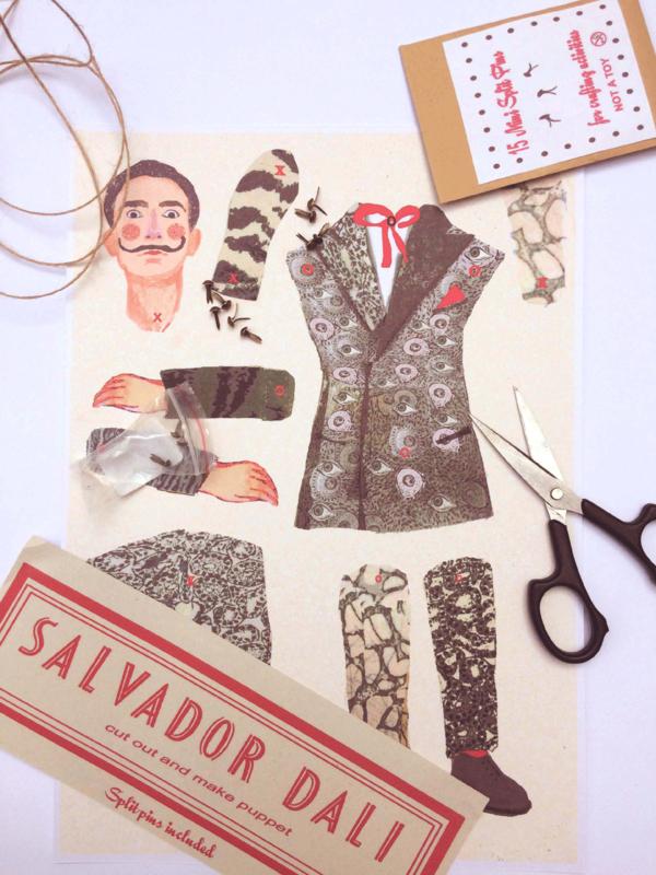 SALVADOR DALI  cut out + make puppet