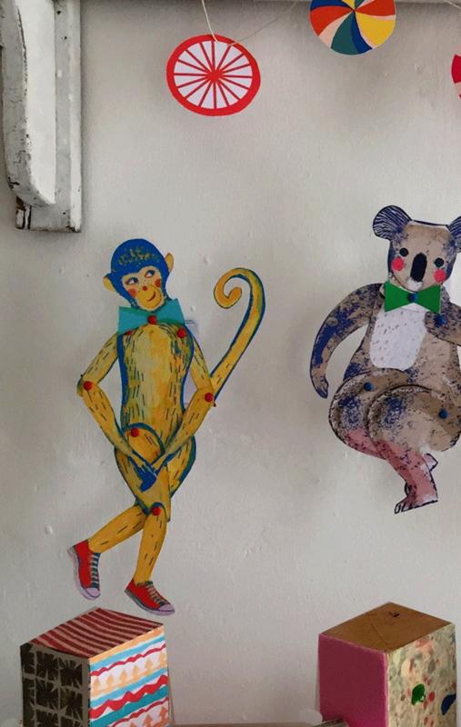 MONKEY  cut out + make puppet