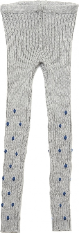paade knit legging bobbles grey with blue