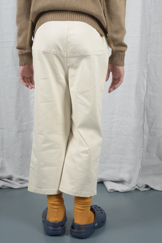 THE BIBIO PROJECT  I  WIDE WORKERS TROUSERS  white swan