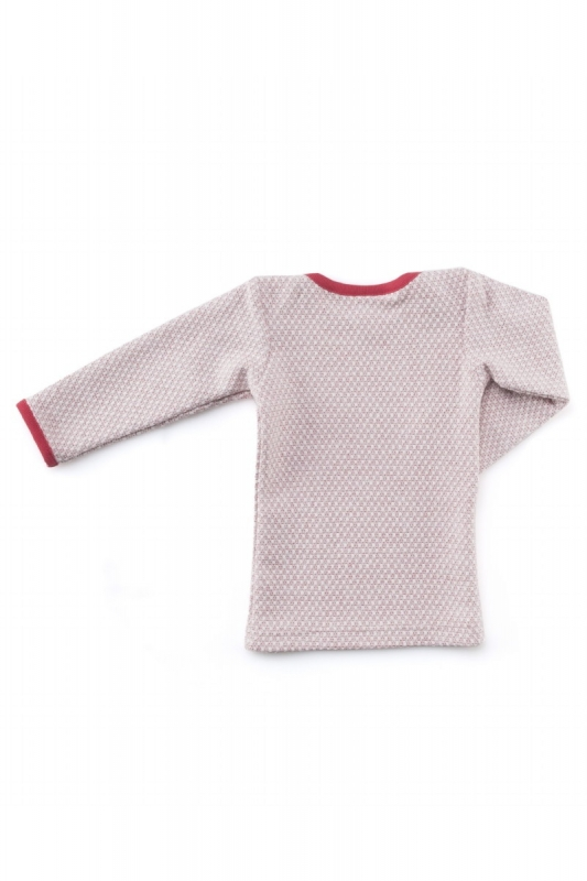 MACARONS  I  BABY T-SHIRT TRINA pearl knit  I  japan red