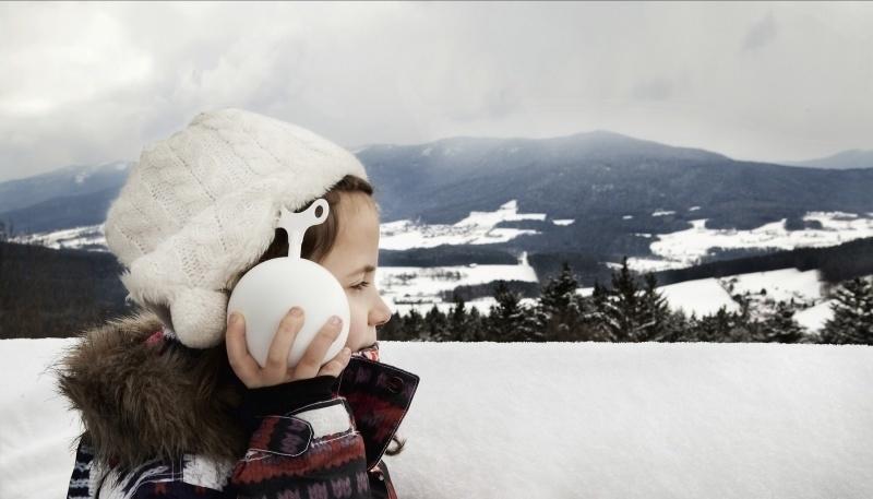 SIEBENSACHEN  I  SNOWBALL MUSIC BOX  white