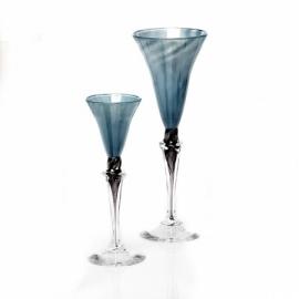 Dus (blauw, klein), glas Knapstad
