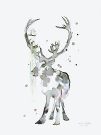 Rendier, kunstdruk Elise Stalder