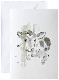 Kalv, kunstkaart Elise Stalder