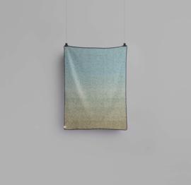 Røros Tweed, deken Agnès, blauw