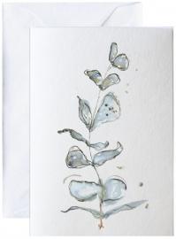 Blå flora, kunstkaart Elise Stalder