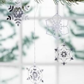 Kerstdecoratie ijsbloemen