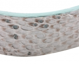 armband Maja, vissenleer, Eben