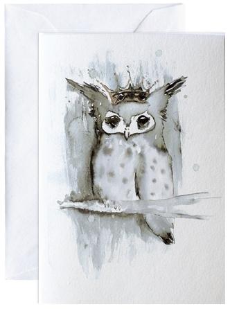 Ugle, kunstkaart Elise Stalder